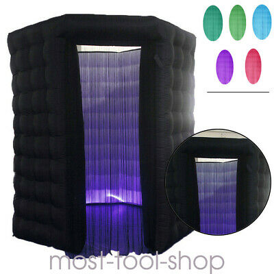 110V 2.5M Inflatable LED Light Photo Tent Booth Air Tent Party Birthday Wedding