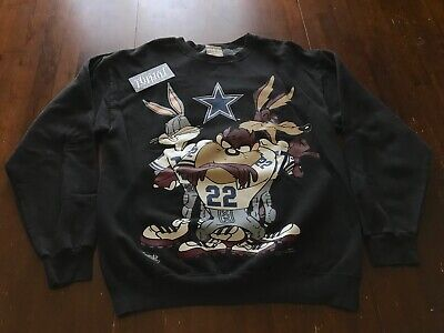 d7c2ca67 VTG 1994 LOONEY Tunes Dallas Cowboys Sweatshirt Nfl Football Taz Bugs  Cartoon M