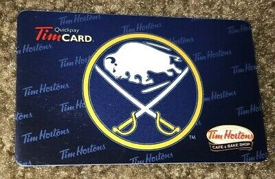 Tim Hortons Cafe & Bake Shop Gift Card Buffalo Sabres Nhl 2012 No Value Fd26815