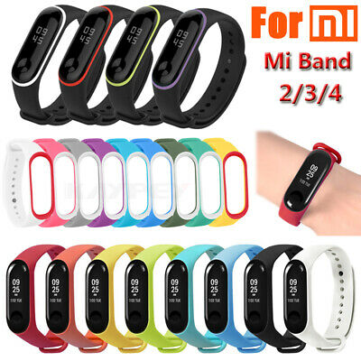 For Xiaomi Mi Band 2 3 4 Soft Silicone Strap Wristband Bracelet Adjustable /hi