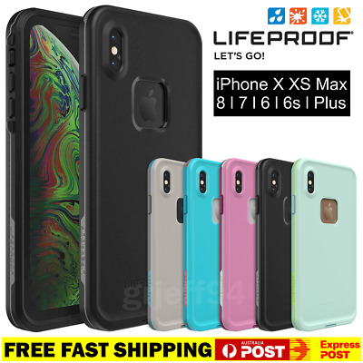 iPhone X XS MAX 6 7 8 Plus + Lifeproof FRE Case Cover Waterproof Shock Drop NEW