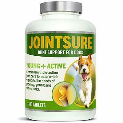 JOINTSURE Young + Active Joint supplements for dogs. Triple-action formula with