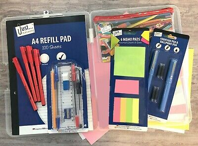 30 Piece Student / School / College Stationery Set. Back-to-school carry-case