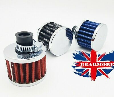 12MM Round Crank Case EngIne Breather Oil Air Filter Car Motorcycle Quad Bike