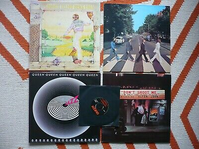 The Beatles Abbey Road Vinyl UK 1984 Press 749-6 / 750-4 LP Drain Scroll Text EX