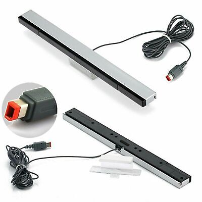 Wireless sensor Bar for Wii & Wii U Nintendo infrared inc stand white UK