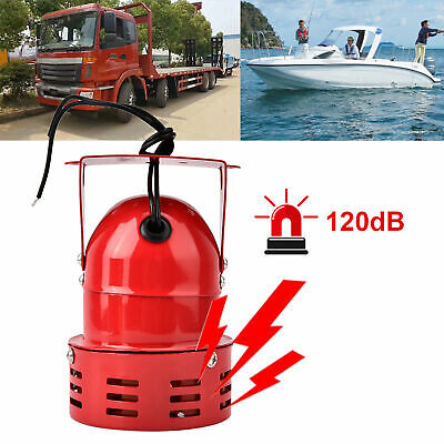 Truck Motor Driven Alarm  Wired Automotive Air Raid Siren Horn Red Siren Alarm