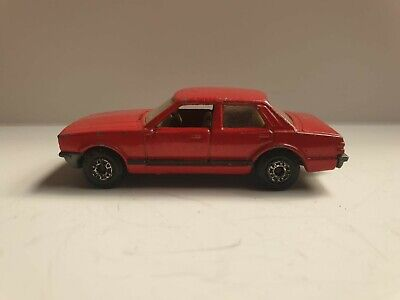 Matchbox Superfast No 55 Ford Cortina Flat Red, Black Stripe RARE used condition