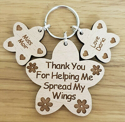Personalised Thank You Gift For Teacher School Nursery End Of Term Gifts Keyring