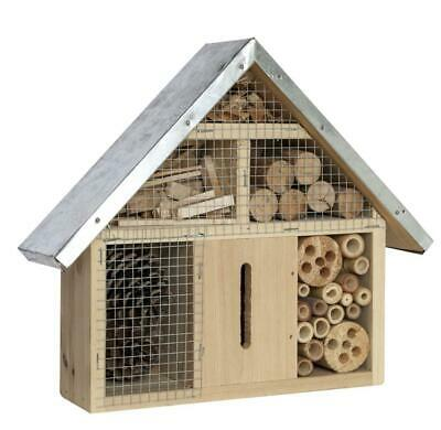 95f4062d Insect Wooden Hotel Metal Roof Nest Home Bee Keeping Bug Garden Ladybird  Box 24