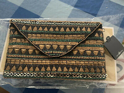 Bijou Brigitte Gorgeous Beaded Clutch Bag BNWT
