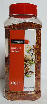 350g Brand New & Sealed Bulk Catering Size Crushed Red Chillies / Chilli Flakes