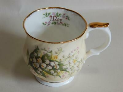 Queens Fine Bone china May Lily of the Valley teacup. Made in England.