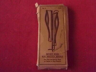 VINTAGE Betsy Ross Rug Shuttle Needle No 5*For Yarn And Narrow Rags*~FREE SHIP