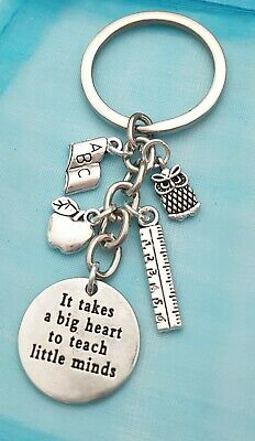 Thank You Gift for Teacher Keyring Teaching Assistant Nursery Bookmark Bag Charm