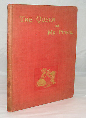 Antique Book The Queen And Mr. Punch The Story Of Reign By Toby Mp Cartoon
