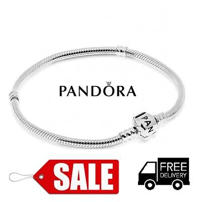 New Genuine Pandora Silver Moments Barrel Clasp Bracelet 590702Hv Rrp £55 Pouch