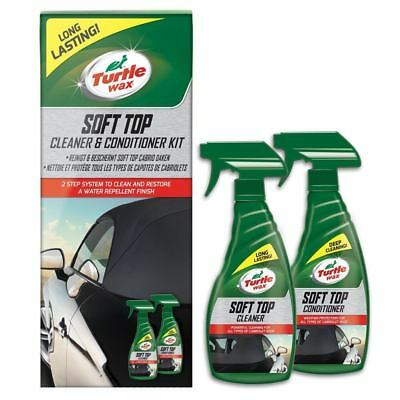 Turtle Wax Car Soft Top Roof Hood Convertible Cleaner & Protector Fabric, Vinyl