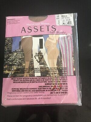 $16 MARVELOUS MAMA ASSETS Supportive Pantyhose by Sara Blakely Sz 2 (B) Sheer