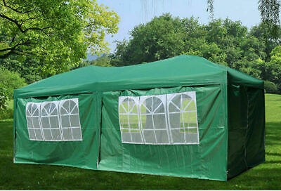 Gazebo 3x6m Green Waterproof Outdoor sides PE Garden Marquee Canopy Party Tent
