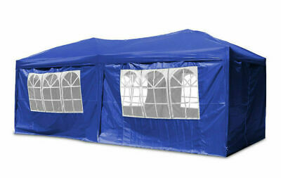 Gazebo 3x6m Waterproof Outdoor sides PE Garden Marquee Canopy Party Tent Blue