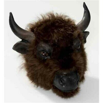 Büffelmaske - Buffalo Mask Fancy Dress Animal Accessory Rubber Bull Fur Cow