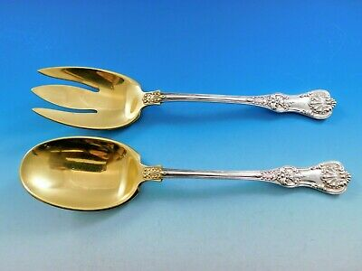 English King by Tiffany and Co Sterling Silver Salad Serving Set GW AS 10 1/8""
