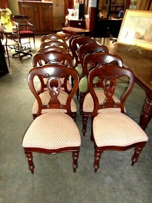 Harlequin Set Of Ten Ornate Victorian Chairs