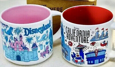 Disneyland / Disney California Adventure DCA Starbucks Mug Been There Series Set