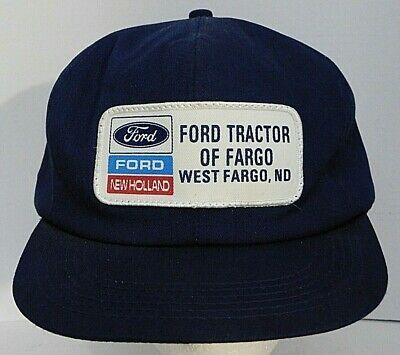 48d1ce00d VINTAGE FORD NEW Holland Patch Mesh Snapback USA Tractor Farmer ...