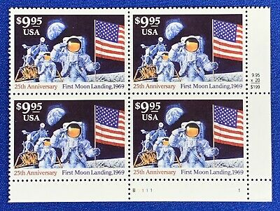 US #2842 Moon Landing Mint NH Express Stamp Armstrong + Aldrin $160 Retail Value