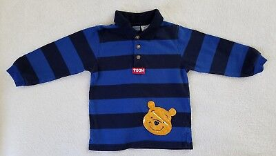 Boy's Top ~ Size 18 Months~ Blue and Black Striped Winnie the Pooh ~ Disney