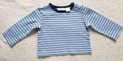Boy's Long Sleeve Top~ Size 0-3 Months ~ Blue/White Striped~ First Impressions