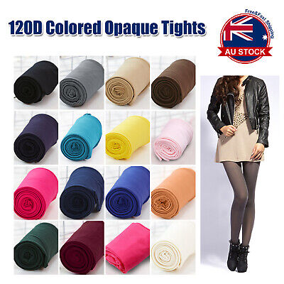 120D Colored Opaque Footless Tights Pantyhose Stockings Hosiery Ballet Dance A
