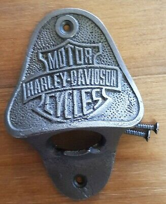 Harley Davidson Wall Mountable Bottle Opener Comes With 2 Mounting Screws