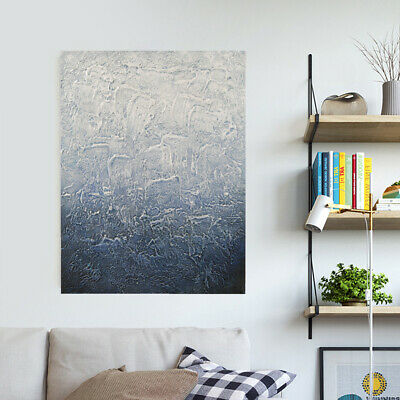 Modern Wall Decor Art Abstract Manual Oil Painting Stretched Canvas - Framed