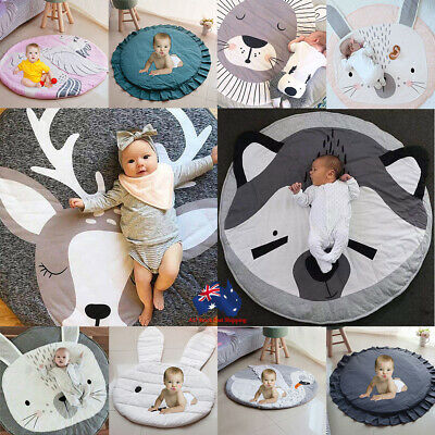 Baby Play Mat Kids Gym Portable Crawling Blanket Soft Cotton Toys Storage Bag AU