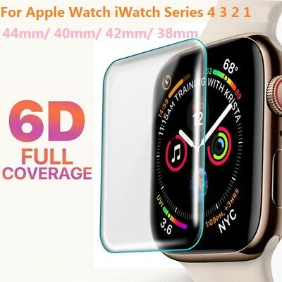 6D For Apple Watch Series 1/2/3/4 38/42mm 40/44mm iWatch Screen Protector Film