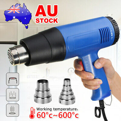 220V Electric Heat Gun Degree Temperature Hot Air Heating Tool Nozzle Adjustable