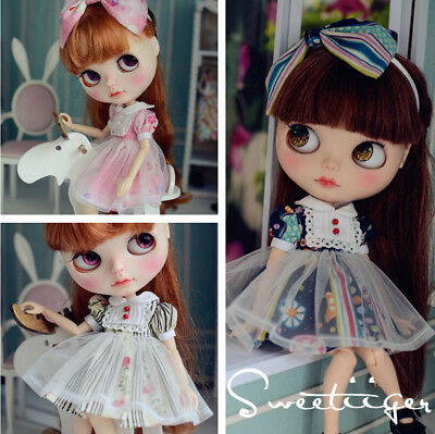 DIY Doll Clothes Bjd Blythe Pullip Clothing Sewing  Mini Pearl Buttons