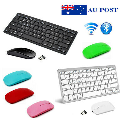 Bluetooth Keyboard Wireless 2.4G USB Mouse Set For IOS Windows Android New