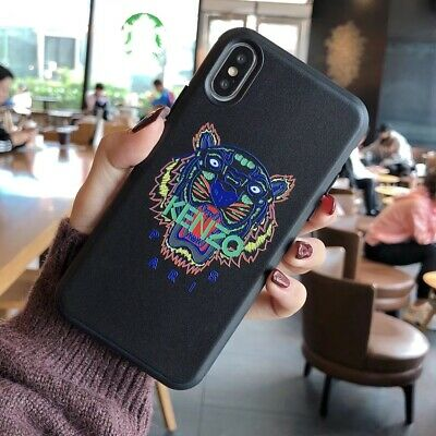 save off ce956 75534 CUTE KENZO IPHONE Case Tiger Head Cover For iPhone X Xs XR XS Max 6 ...