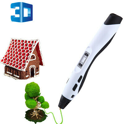 New 3D Printing Pen Crafting Doodle Drawing Arts Printer Modeling PLA/ABS White