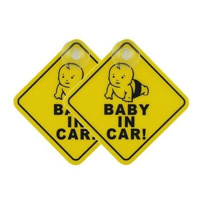 2 Pack Baby On Board Child On Board Car Sign Sticker Window Badge Baby In Car
