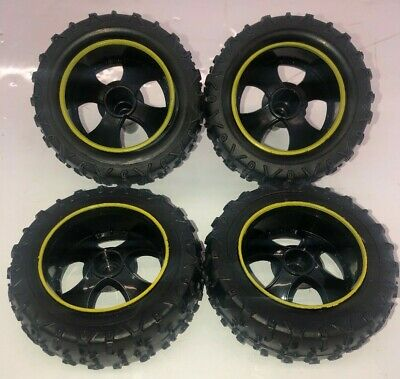 3d0b5fff380 New Bright 1:14 Scale RC Pro Dune Rebel Set of Tires & Rims Replacement