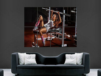 Gym Exercise Hot Sexy Girl Weights   Art  Huge Large Wall  Poster Picture