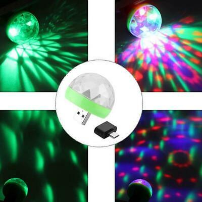 LED Party USB Atmosphere Light DJ RGB Mini Colorful Music Sound Lamp For Phone
