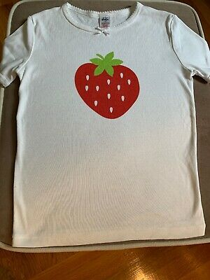 Mini Boden Girls Size 14 Years. Short Sleeve Top Strawberry