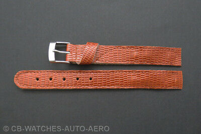 Quality Brown Tan Lizard Leather Vintage Style Open-Ended Watch Strap 10mm-20mm