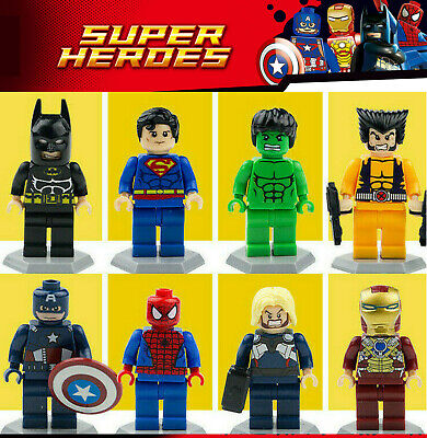 8 Pcs COMIC SUPER HEROES MINIFIGS THE AVENGERS DC MARVEL FITS WITH LEGO BLOCKS